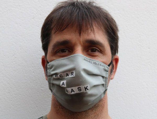 Mascarilla Estampada Ángel Iglesias Wear a mask
