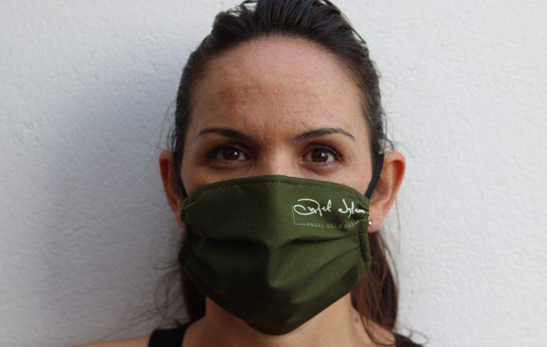 olive green mask