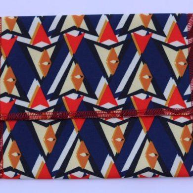 Bolsa guarda mascarilla estampado geométricos