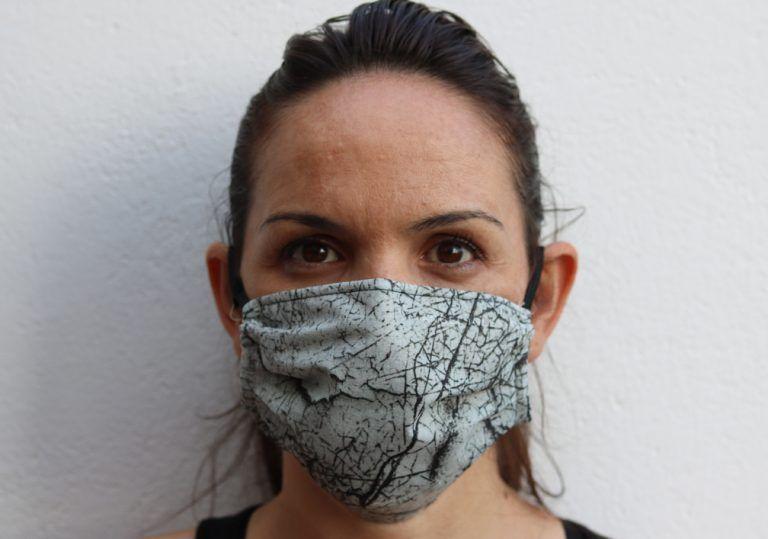 grey texture unisex mask