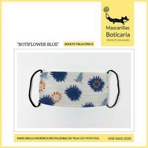 Mascarilla Boticaria BOTIFLOWER BLUE (adulto)