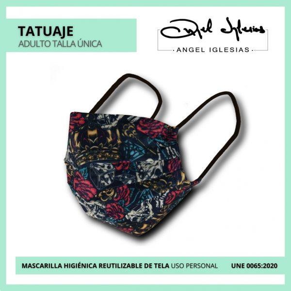 Mascarilla Ángel Iglesias Adulto Tatuaje
