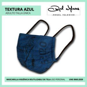 Mascarilla Ángel Iglesias Adulto Textura Azul